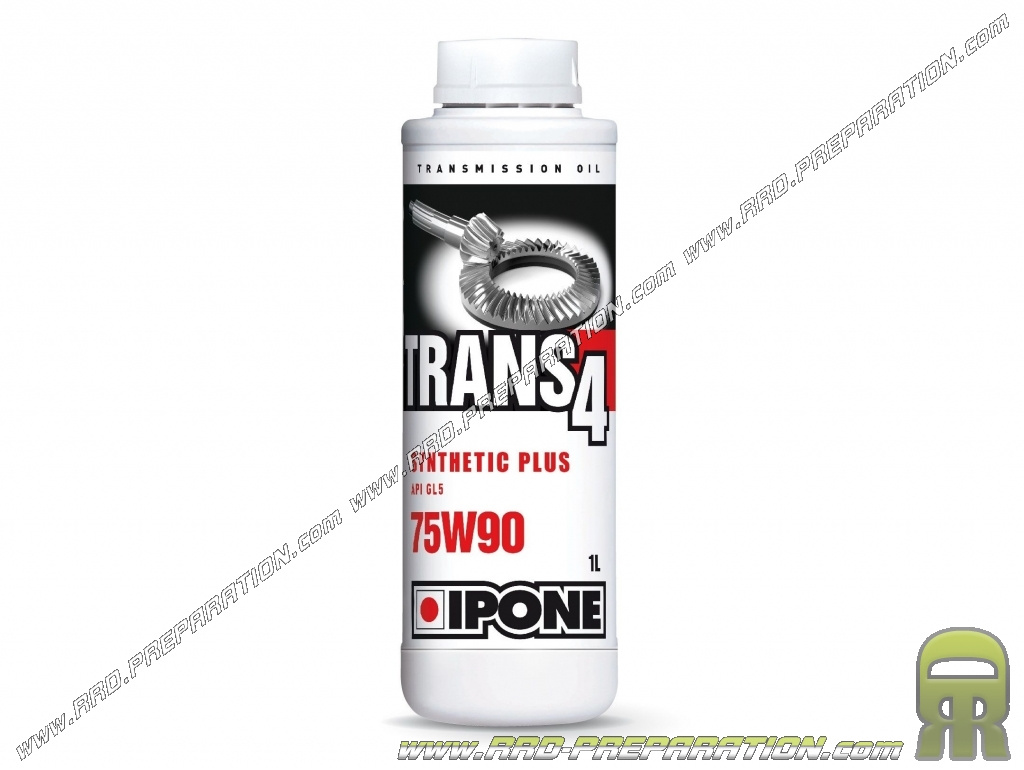 Transmission oil IPONE TRANS 4 75W90 for scooter, motorcycle, quad     4  Time 1L - www rrd-preparation com