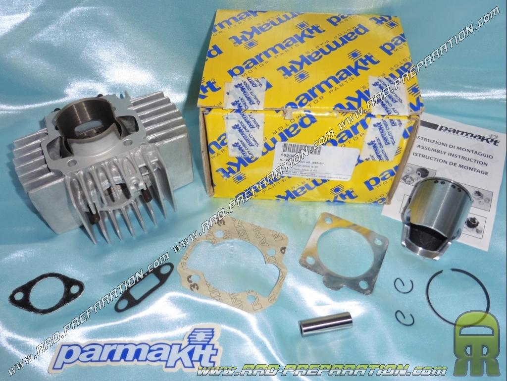 Cylinder / piston 65cc Ø45mm PARMAKIT aluminum for PUCH Maxi 50     -  www rrd-preparation com