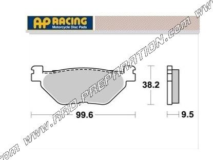 Rear Brake Pads For Yamaha TDM 900 2004