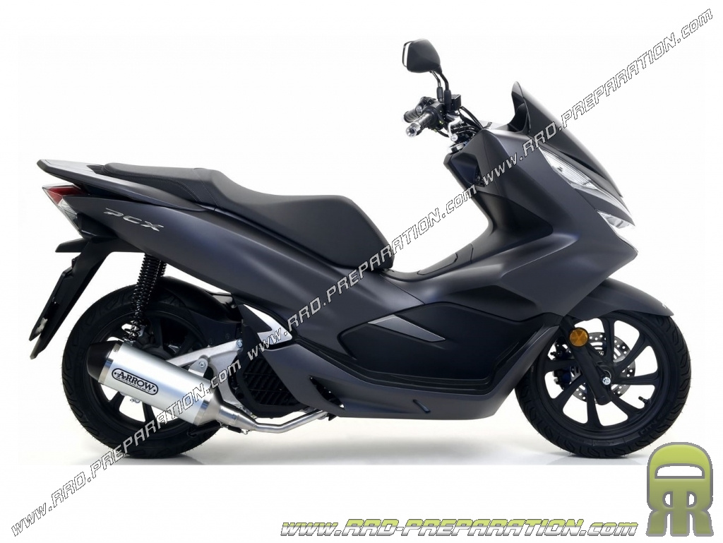 exhaust arrow urban for maxi scooter honda pcx 125 2018. Black Bedroom Furniture Sets. Home Design Ideas