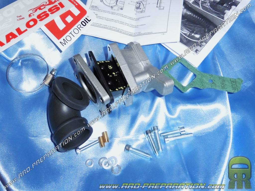 Inlet kit MALOSSI X360 (pipe + valves) Ø24 to 32 on VESPA PX, T5 80, 125,  150 2T - www rrd-preparation com