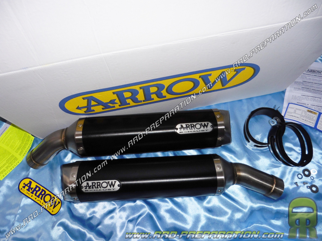 Pair Of Exhaust Silencer Arrow Street Thunder For Ducati 1198 1098 848 2007 To 2011 Www Rrd Preparation Com