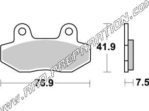 AP RACING front brake pads for MASH motorcycle, HYOSUNG