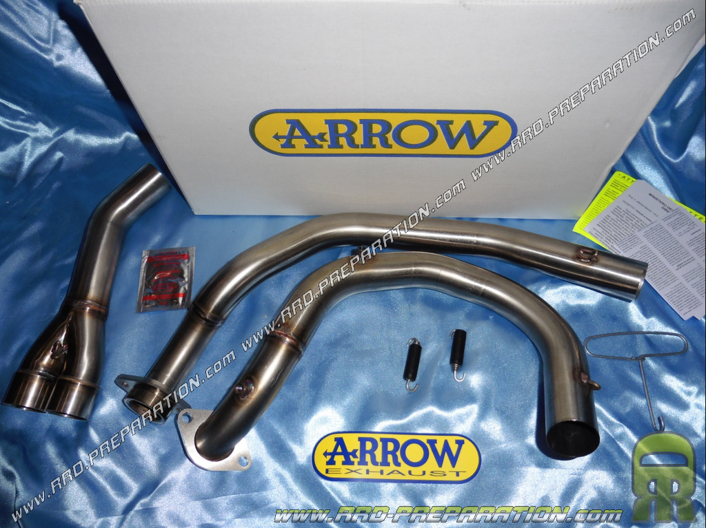 Arrow Racing Uncatalyzed Exhaust Manifold For Motorcycle Honda Xrv 750 Africa Twin From 1993 To 2004 Www Rrd Preparation Com