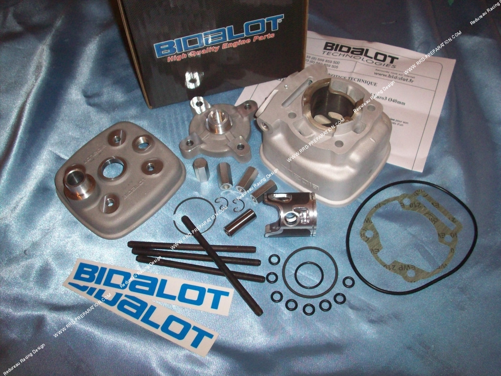 kit 50cc haut moteur 40mm bidalot racing aluminium derbi euro 3. Black Bedroom Furniture Sets. Home Design Ideas