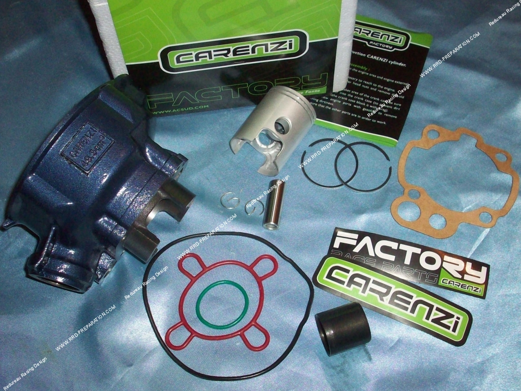 kit 50cc high engine without cylinder head 40mm carenzi competition cast iron minarelli am6