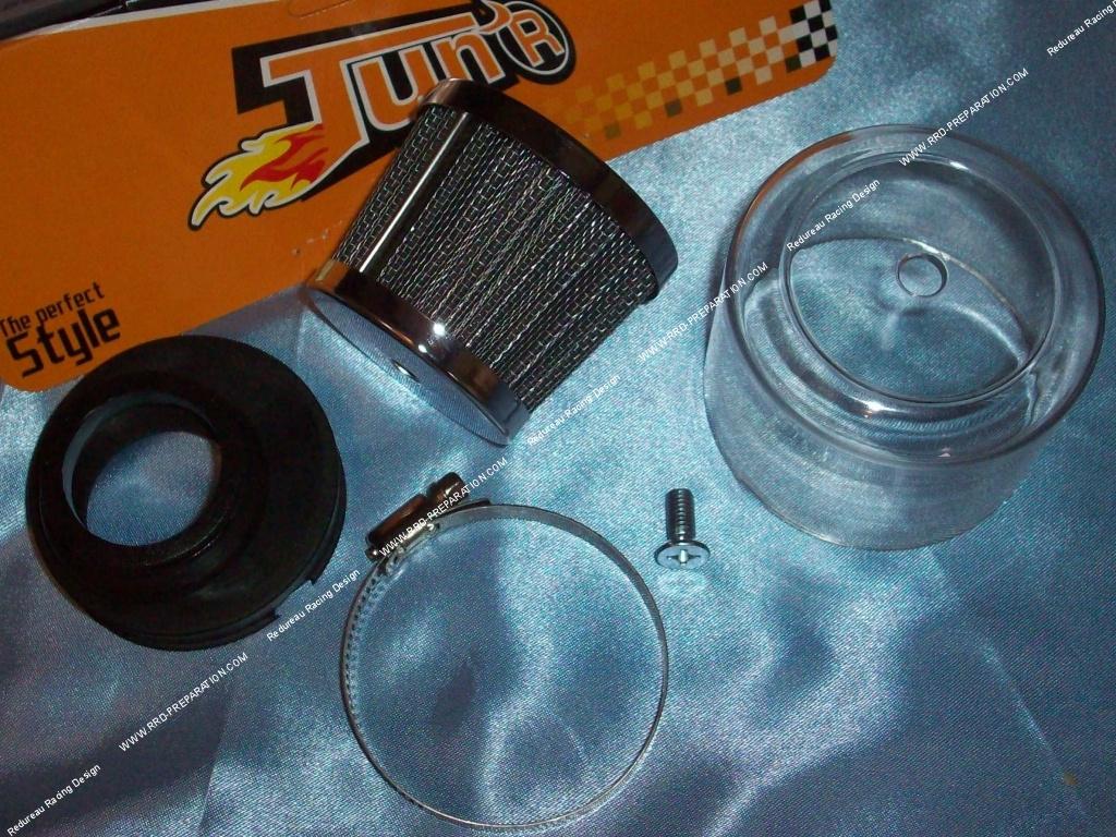 filtre air cornet pour carburateur sha 15 et 16mm tun r racing avec l ment filtrant et. Black Bedroom Furniture Sets. Home Design Ideas