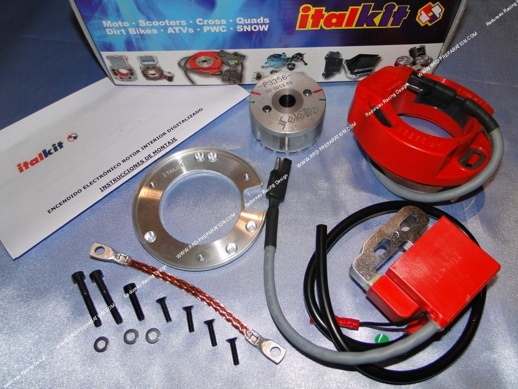 ANALOG SELETTRA ITALKIT ignition internal rotor without lights for  mécaboite minarelli am6