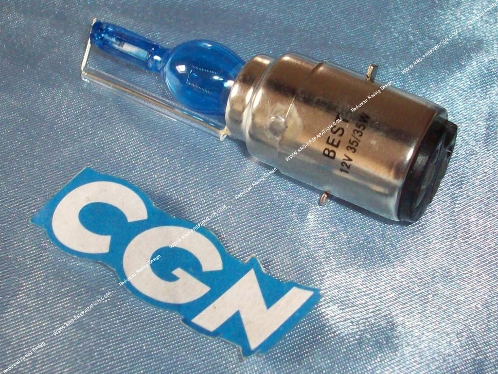 ampoule de phare ba20d cgn feu avant lampe type xenon super bleu 12v 35 35w. Black Bedroom Furniture Sets. Home Design Ideas