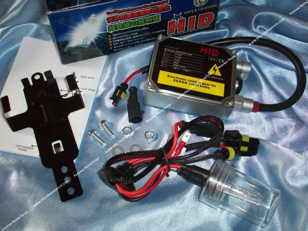 Hid h v w universal xenon kit motorcycle scooter quad