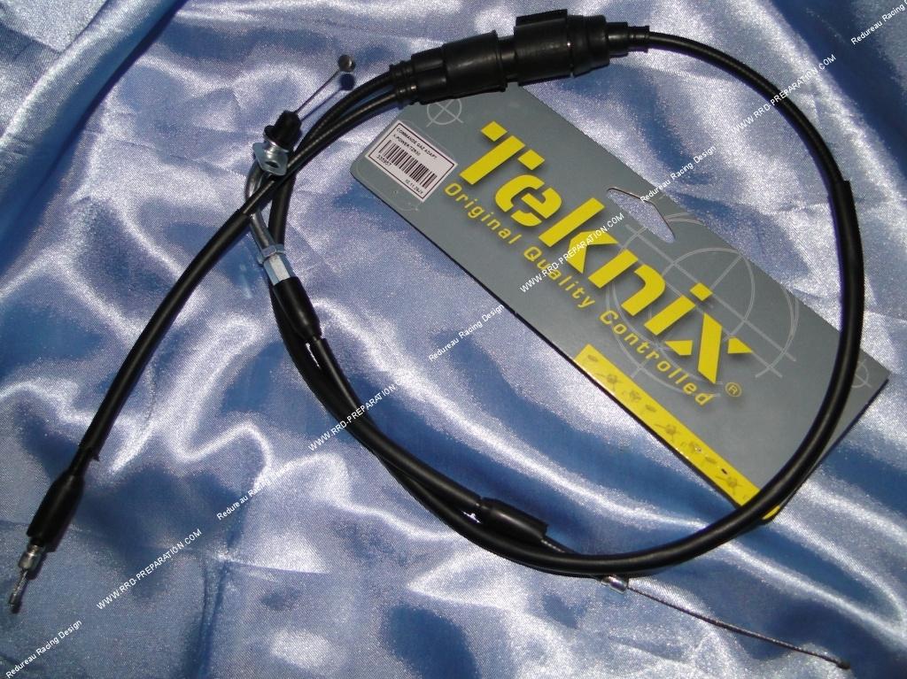 c ble d acc l rateur gaz teknix avec gaine pour mbk x power et yamaha tzr 50cc. Black Bedroom Furniture Sets. Home Design Ideas