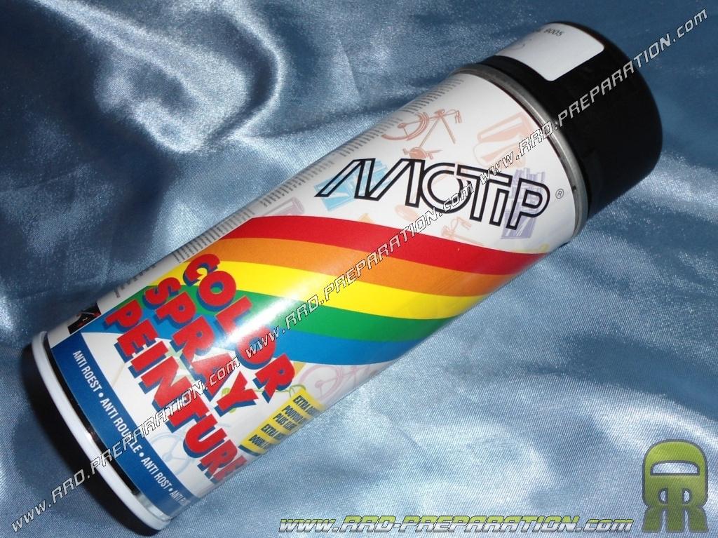 Bombe spray peinture motip noir mat pour carrosserie for Peinture en bombe pour bois