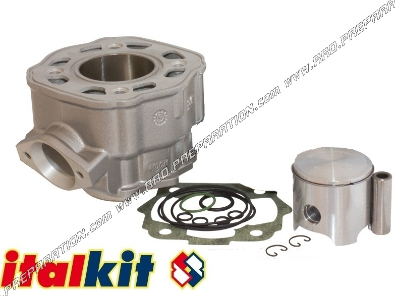 kit cylindre piston sans culasse 75cc 48mm italkit racing mono segment aluminium derbi euro 3. Black Bedroom Furniture Sets. Home Design Ideas