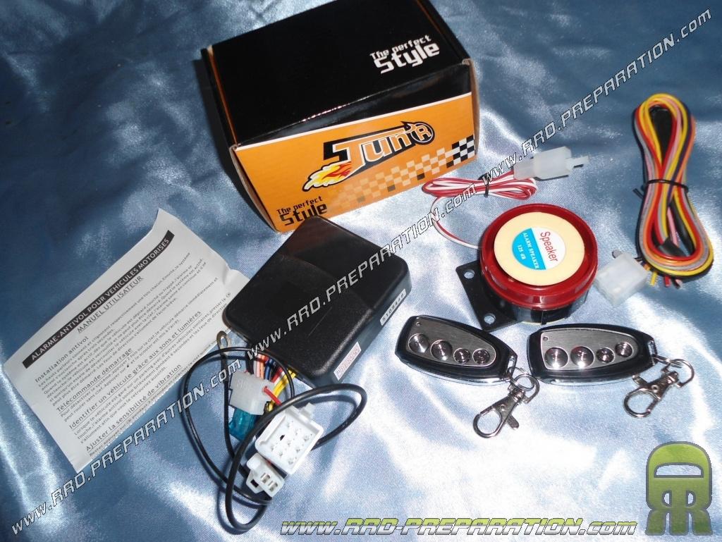 fr antivols chaine alarmes bloc disque mob cyclomoteur  alarme complete universelle telecommandes scooter mecaboite moto