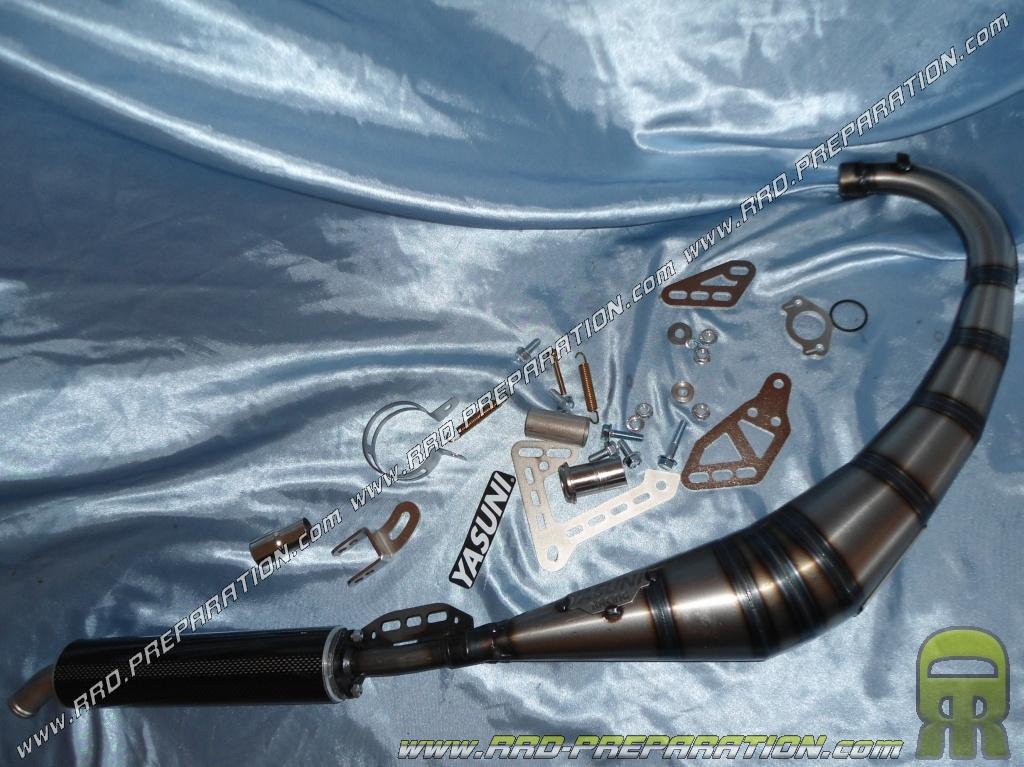 pot d 39 chappement yasuni r2 passage bas pour supermotard. Black Bedroom Furniture Sets. Home Design Ideas