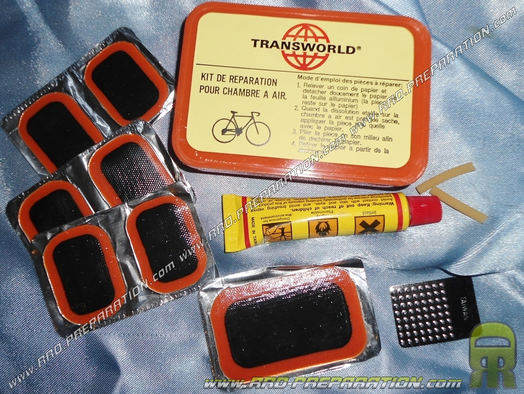 Kit de reparation tnt pour v lo cyclomoteur scooter a for Reparer chambre a air