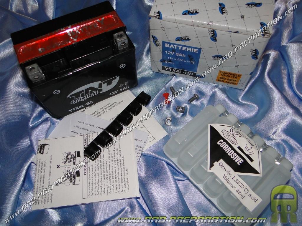 batterie tnt original ytx4l bs 12v 3a sans entretien pour moto m caboite scooters www. Black Bedroom Furniture Sets. Home Design Ideas