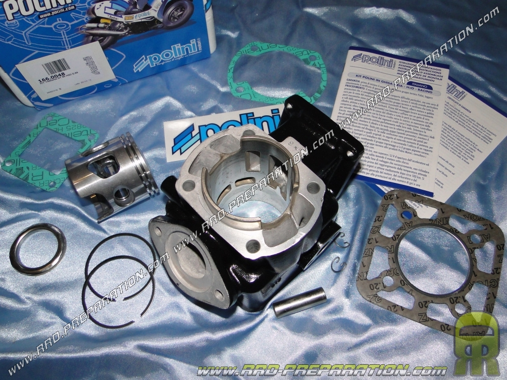 Kit 100cc Ø55mm POLINI aluminum for motorcycle YAMAHA DT, TZR, RD and YSR  80cc LC liquid cooling
