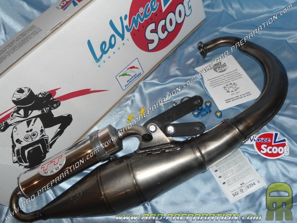 Auspuff LEOVINCE Handmade TT für MBK Booster Slider YAMAHA BWs Stunt