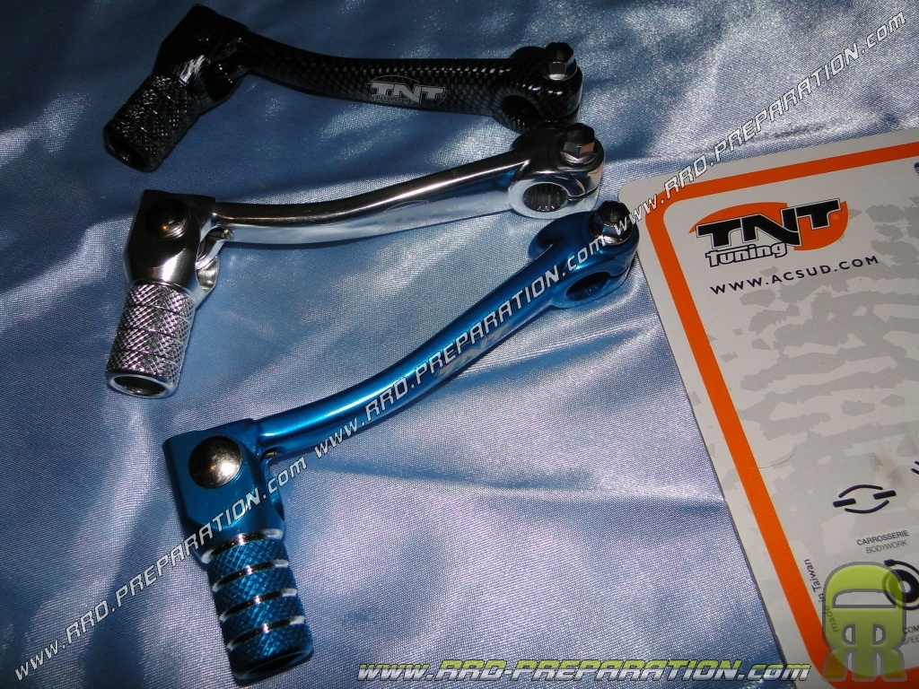 Speed selector TNT TUNING blue minarelli am6, carbon or chrome -  www rrd-preparation com