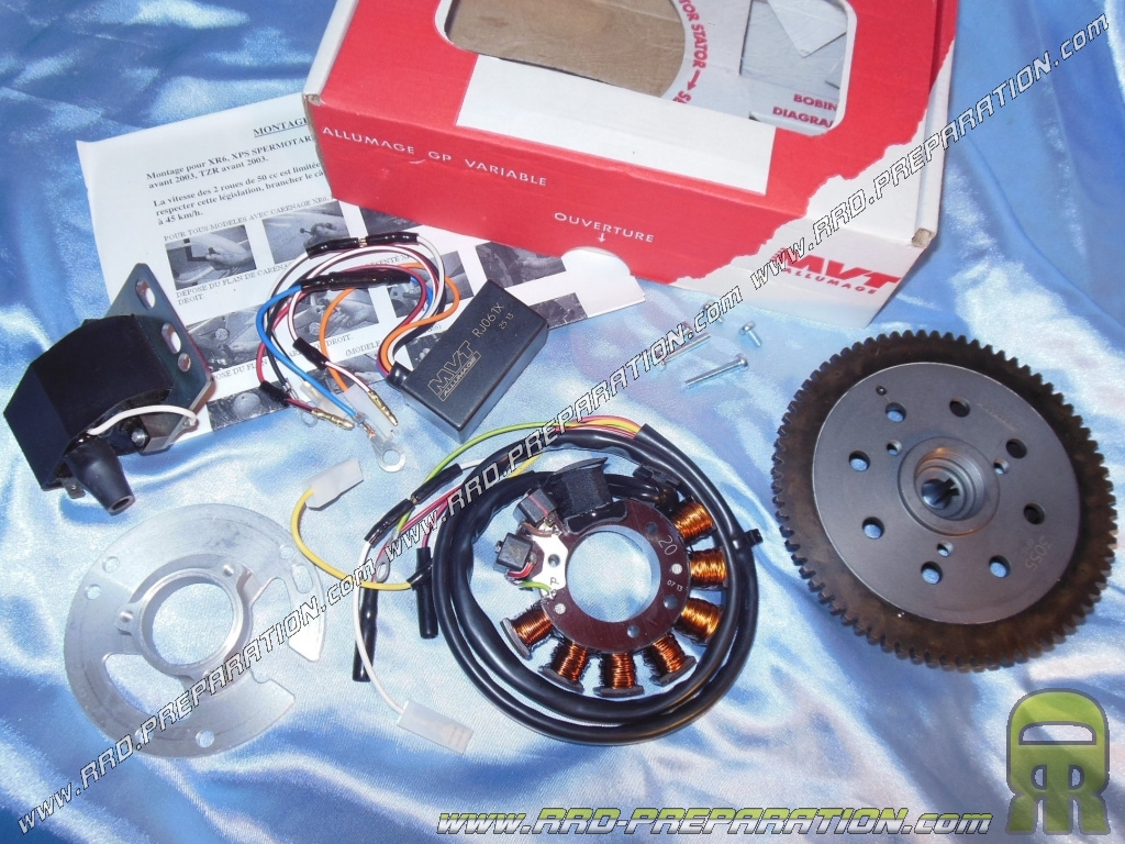 Ignition Mvt Millenium External Rotor With Lighting And Electric Peugeot Xps Wiring Start Option For Minarelli Am6