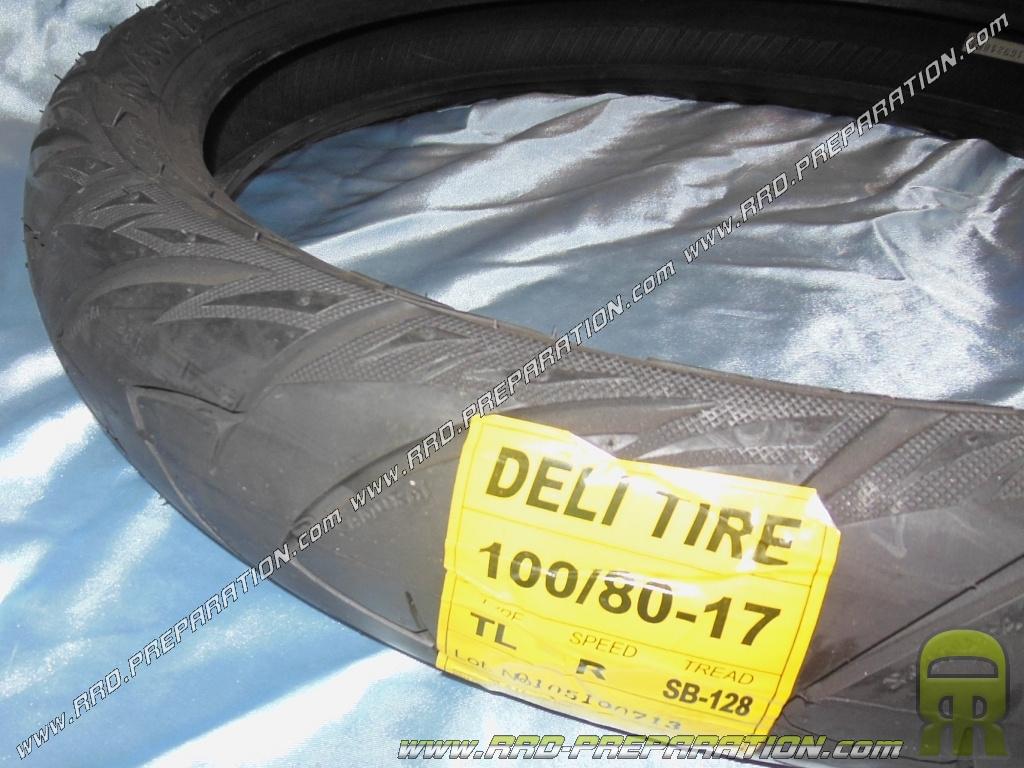 pneu deli tire 100 80 x 17 sb128 tl 52r samurai pour moto m caboite. Black Bedroom Furniture Sets. Home Design Ideas